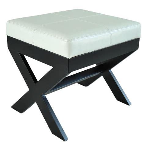 white ottoman stool homcom modern faux leather ottoman footrest stool white