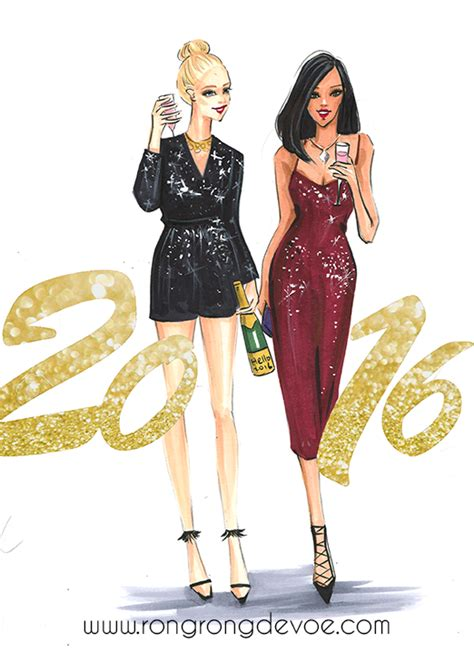 new year fashion fashion illustrations to celebrate and new year