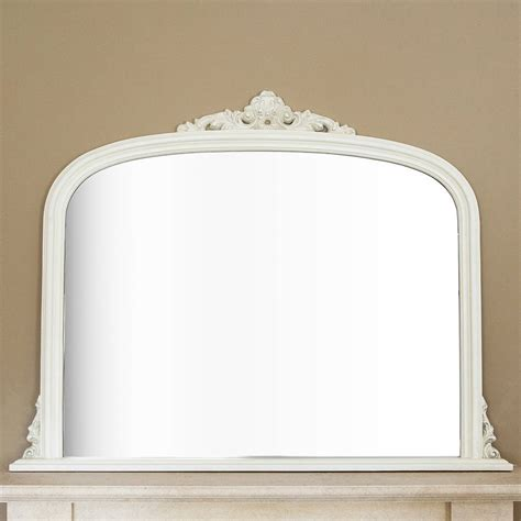 designer mirrors ivory overmantel mirror by decorative mirrors online