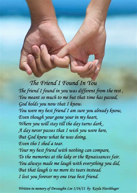 poems for your best friend the friend i found in you poems by poets