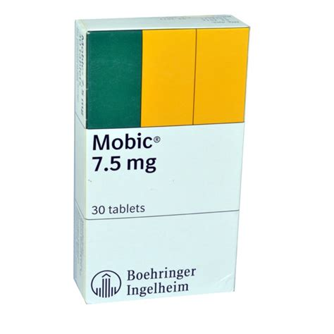 Moxam 7 5 Mg Meloxicam Osteoarthitis mobic tablets 7 5 mg 30 tab
