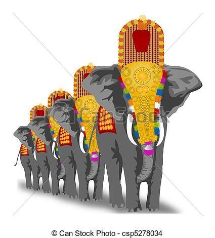 drawing  elephant festival decorated elephants