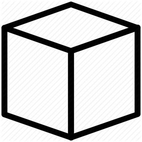 Box Outline In Photoshop by Box Box Shape Cube Cubic Shape Square Icon Icon Search Engine