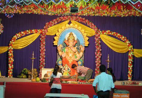 home decoration of ganesh festival festivals in goa inngoa com