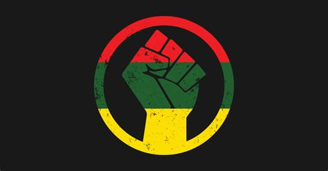 rasta black power distressed shirt protest t