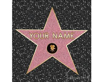 free printable hollywood star hollywood star template www pixshark com images