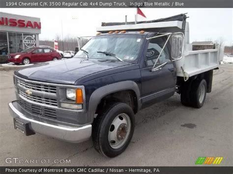 1994 chevrolet c k 3500 extended cab 4x4 dually interior indigo blue metallic 1994 chevrolet c k 3500 regular cab 4x4 dump truck blue interior