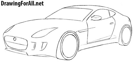 How To Draw A Jaguar Car Drawingforall Net