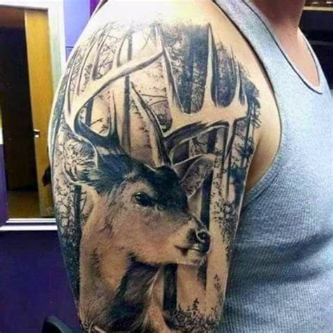 wildlife tattoos for men best 25 tattoos ideas on deer