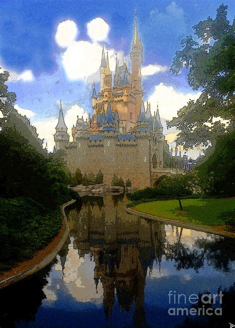 cinderella house the house of cinderella painting by david lee thompson