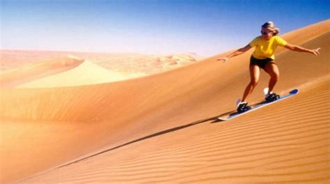 sandboarding in the dubai desert dubai desert sandboarding