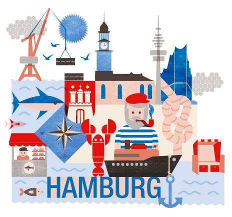 Postkarten Drucken Media Markt by Hamburg Illustration Dein Sommertrip 2014 Hamburg