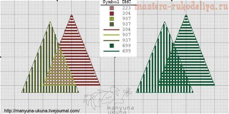 Новый год и рождество схема вышивка