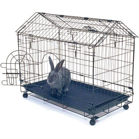 kennel aire bunny house rabbit cage walmart.com