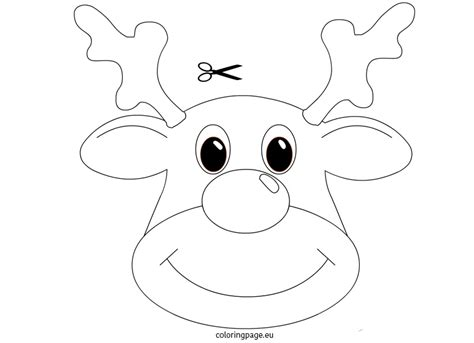 best photos of rudolph mask template rudolph reindeer