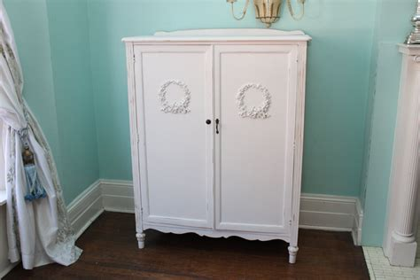 shabby chic armoire antique armoire shabby chic white by vintagechicfurniture