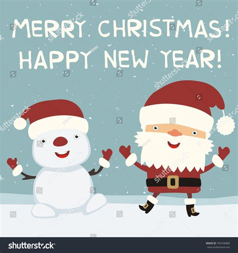 merry christmas happy  year funny stock vector  shutterstock