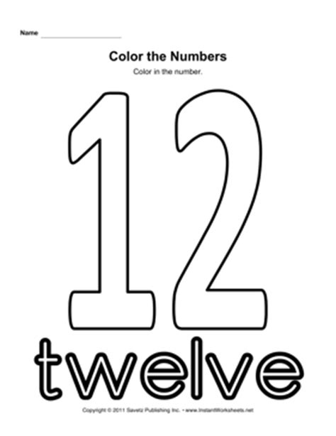 coloring pages of number 12 color number 12