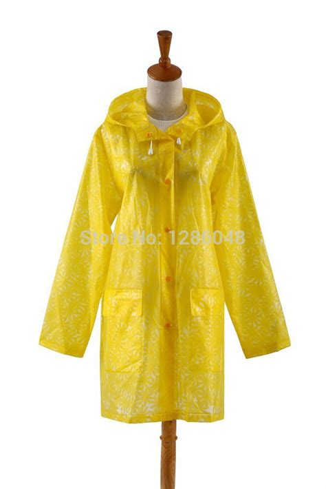 flower pattern raincoat new fashion floral pattern quality waterproof plastic