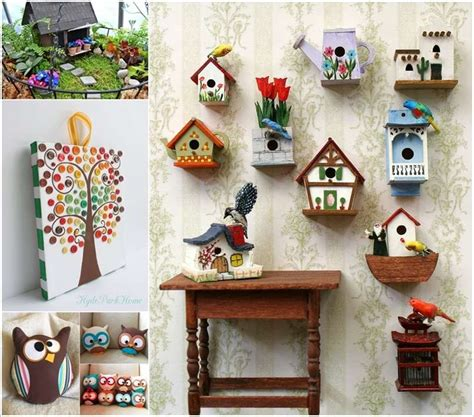craft idea for home decor 15 cute diy home decor projects that you ll love