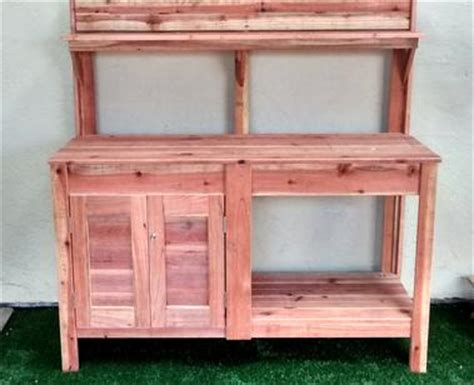 potting bench kit custom raised gardens potting benches