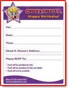 printable birthday invitations chuck e cheese chuck e cheese s birthday invitation instant download