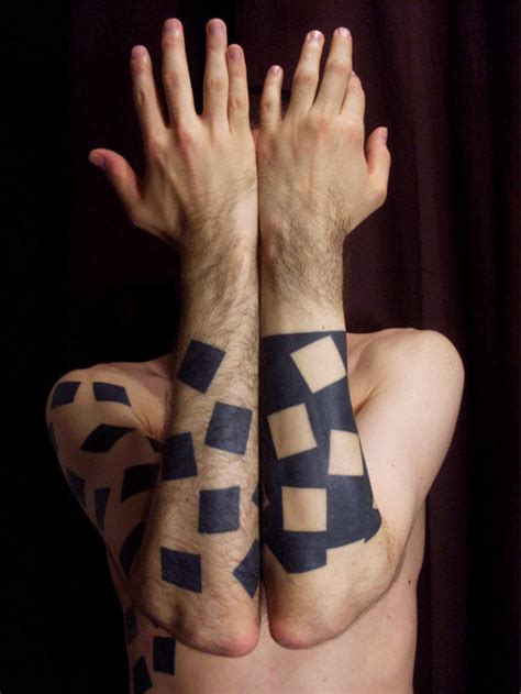 tattoo with geometric shapes geometric tattoos damn cool pictures