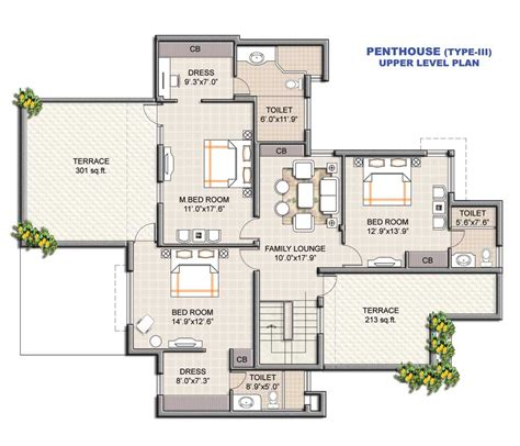residential plan floor plans us open apartments nirmal lifestyle mumbai