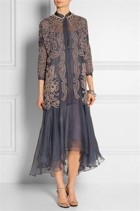 Grey Sandal Payet biyan atalia embellished tulle and silk organza dress