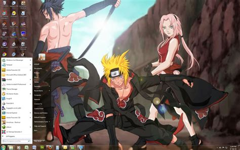 Themes Naruto Shippuden Windows 7 | naruto shippuden win 7 theme by windowsthememanager on
