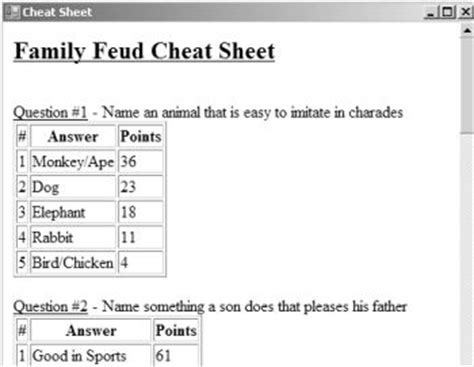 8 Best Images Of Family Feud Adult Printable Games Baby Family Feud Questions And Answers Printable Family Feud