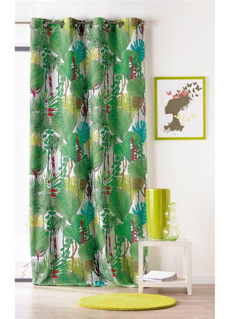 Rideau Jungle by Rideau 224 Motifs Quot Jungle Quot Tiss 233 En Vert Bleu