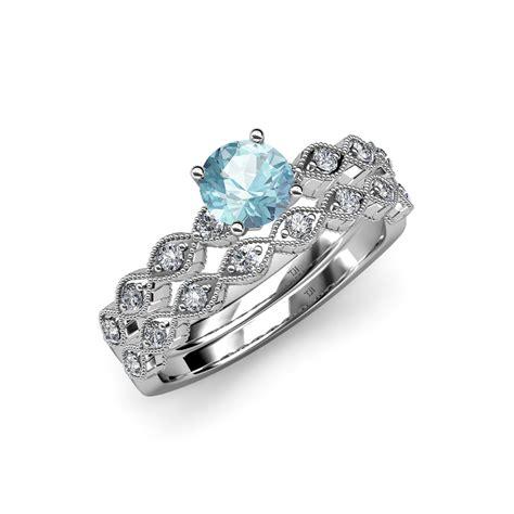 aquamarine marquise shape engagement ring