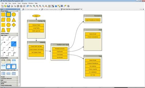 Free Layout Program windows software to draw state diagrams and asm charts