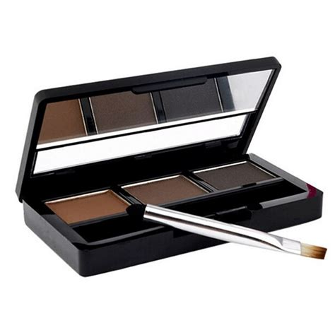 eye brow makeup kit set 3 color waterproof eye shadow