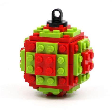 christmas tree ball ornament made with lego bricks a