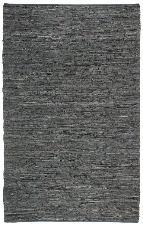 leather floor rug st croix st croix matador leather chindi lcd02 black area rug 69859