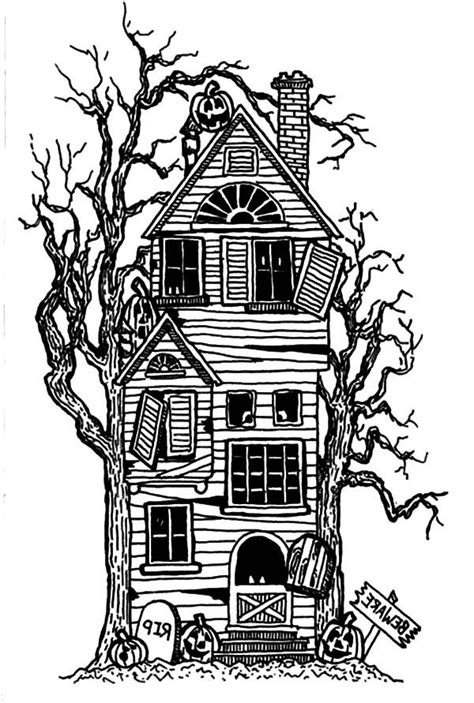 haunted house coloring pages big haunted house coloring page coloring home