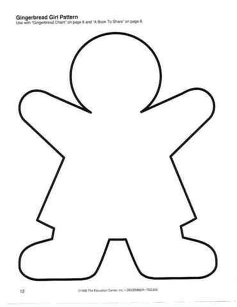 gingerbread girl pattern theme gingerbread pinterest