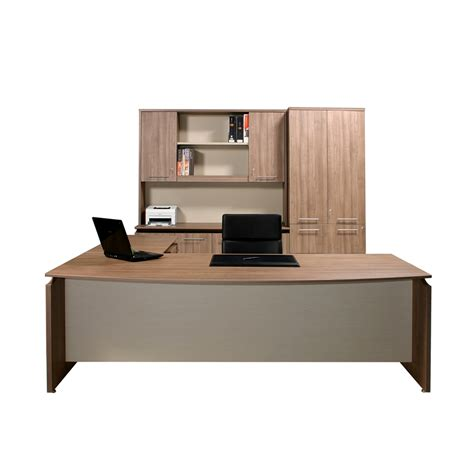 Office Front Desk V3 Executive Bow Front Office Desk 2400mm