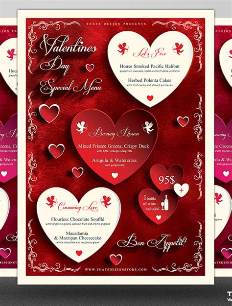 menu card template photoshop 41 valentines menu templates free psd eps format