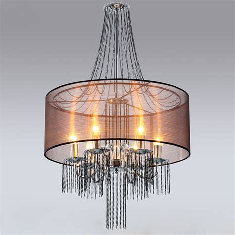 Candelabra Shades For Chandeliers Candelabra Chandelier With Semi Transparent Shade Modern Chandeliers Other Metro By