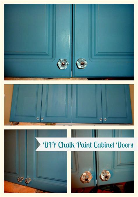 How To Paint A Cabinet Door Diy Chalk Painted Doors The Affair Continues The Happy Housie