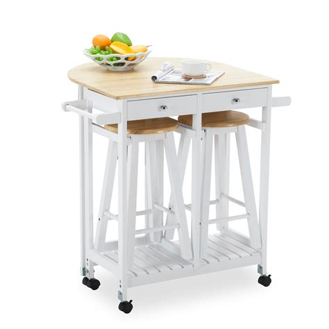 kitchen island cart with stools kitchen island rolling trolley cart storage dinning table