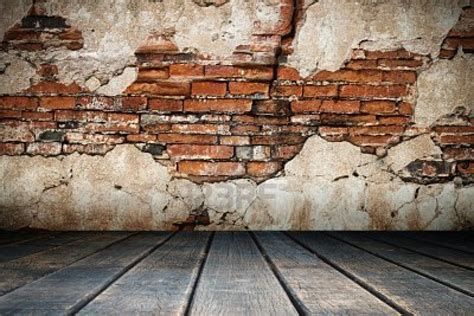 Old Brick Wall And Wood Floor Nice Texture Backgrounds
