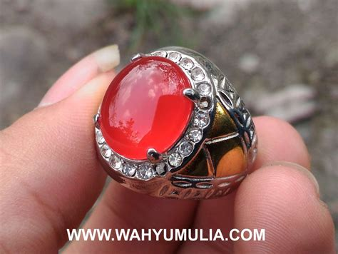 Batu Akik Orange Motif batu cincin akik darah carnelian kode 426 wahyu mulia
