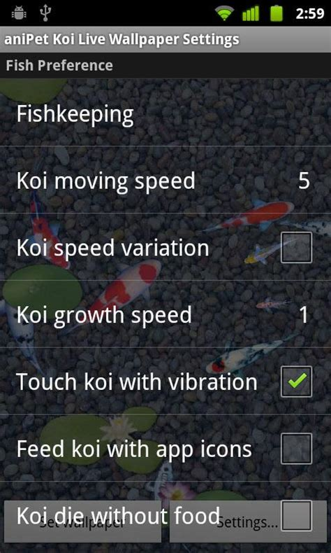 anipet koi live wallpaper full version download anipet koi livewallpaper 1mobile com