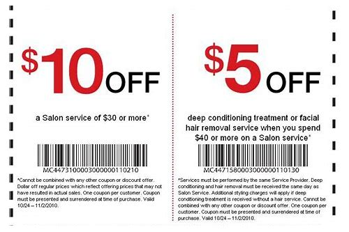 hair stylist coupons