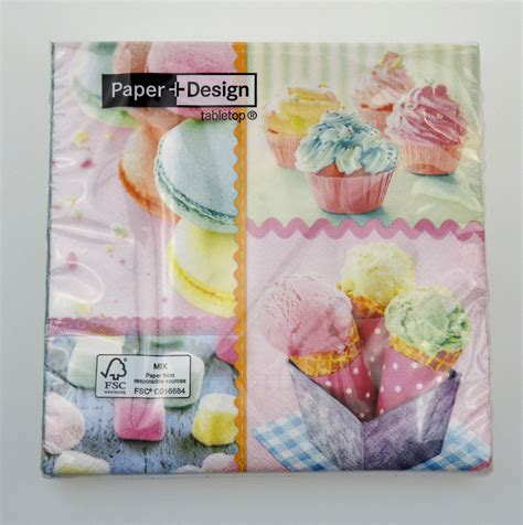 Decorative Paper Crafts - 20 pck beautiful vintage decorative paper napkins