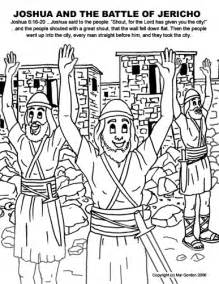 Joshua And The Battle Of Jericho Coloring Page joshua jericho and the promissed land coloring pages